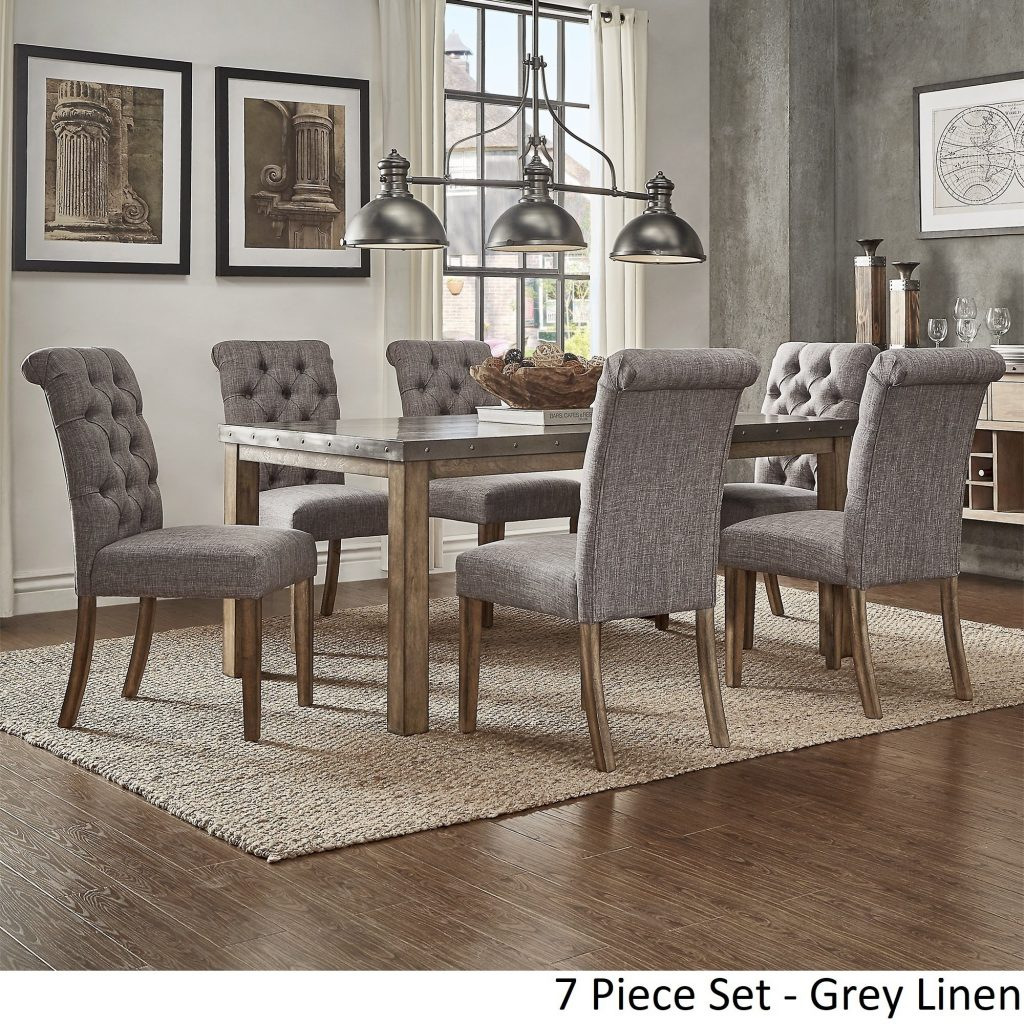 Shop Cassidy Stainless Steel Top Rectangle Dining Table Set