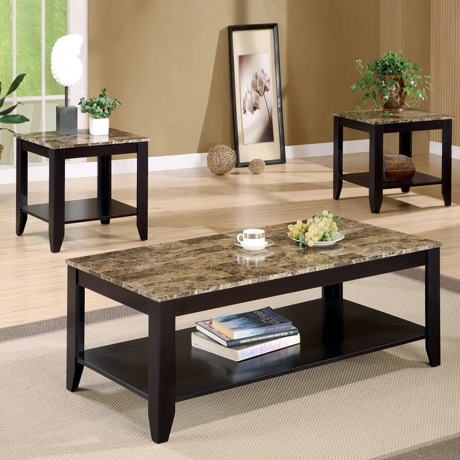 Shop Coaster Fine Furniture 3 Piece Accent Table Set At Lowes