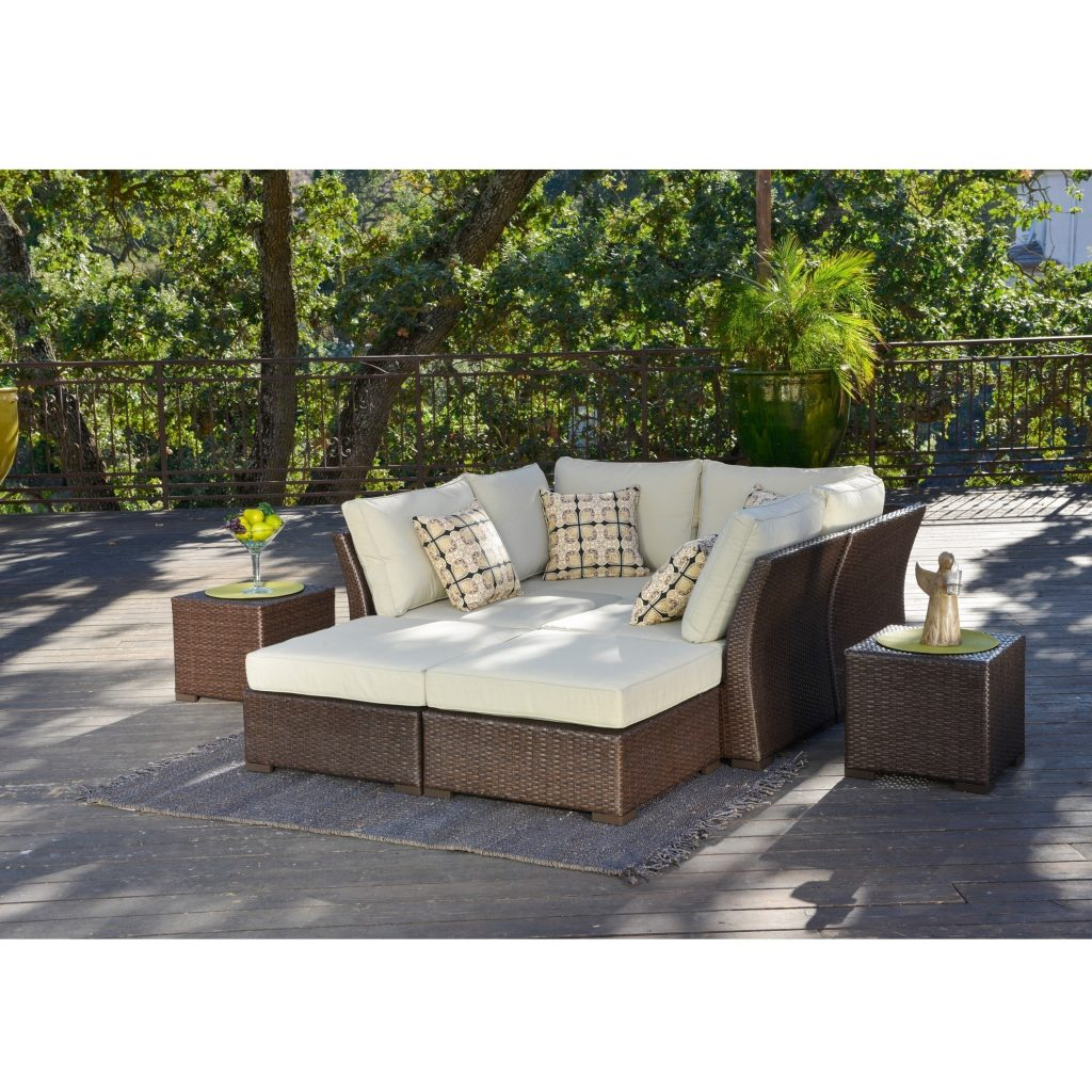 Shop Corvus Oreanne 8 Piece Brown Wicker Patio Furniture Set On