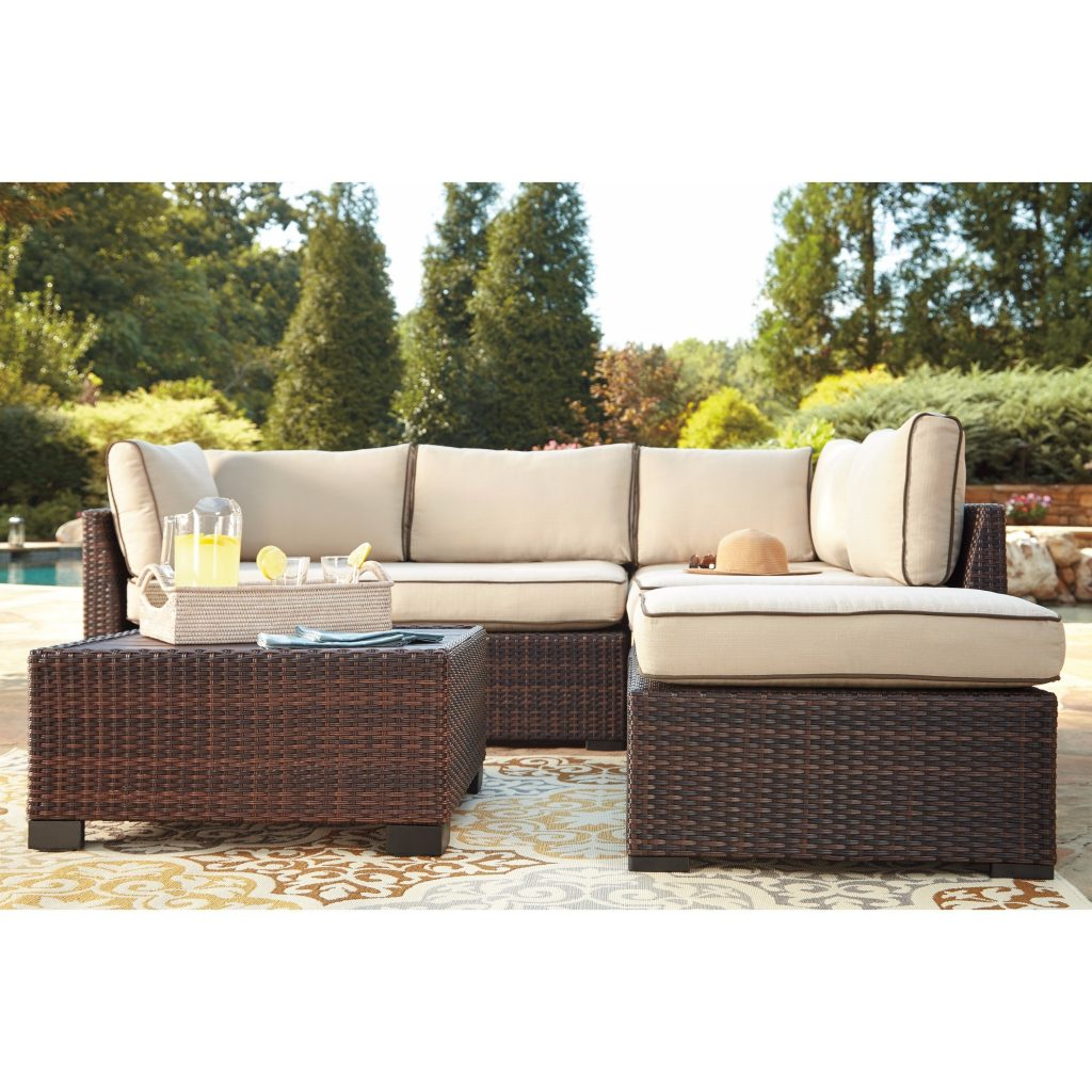 Shop Signature Design Ashley Loughran Brown Loveseat Set Free