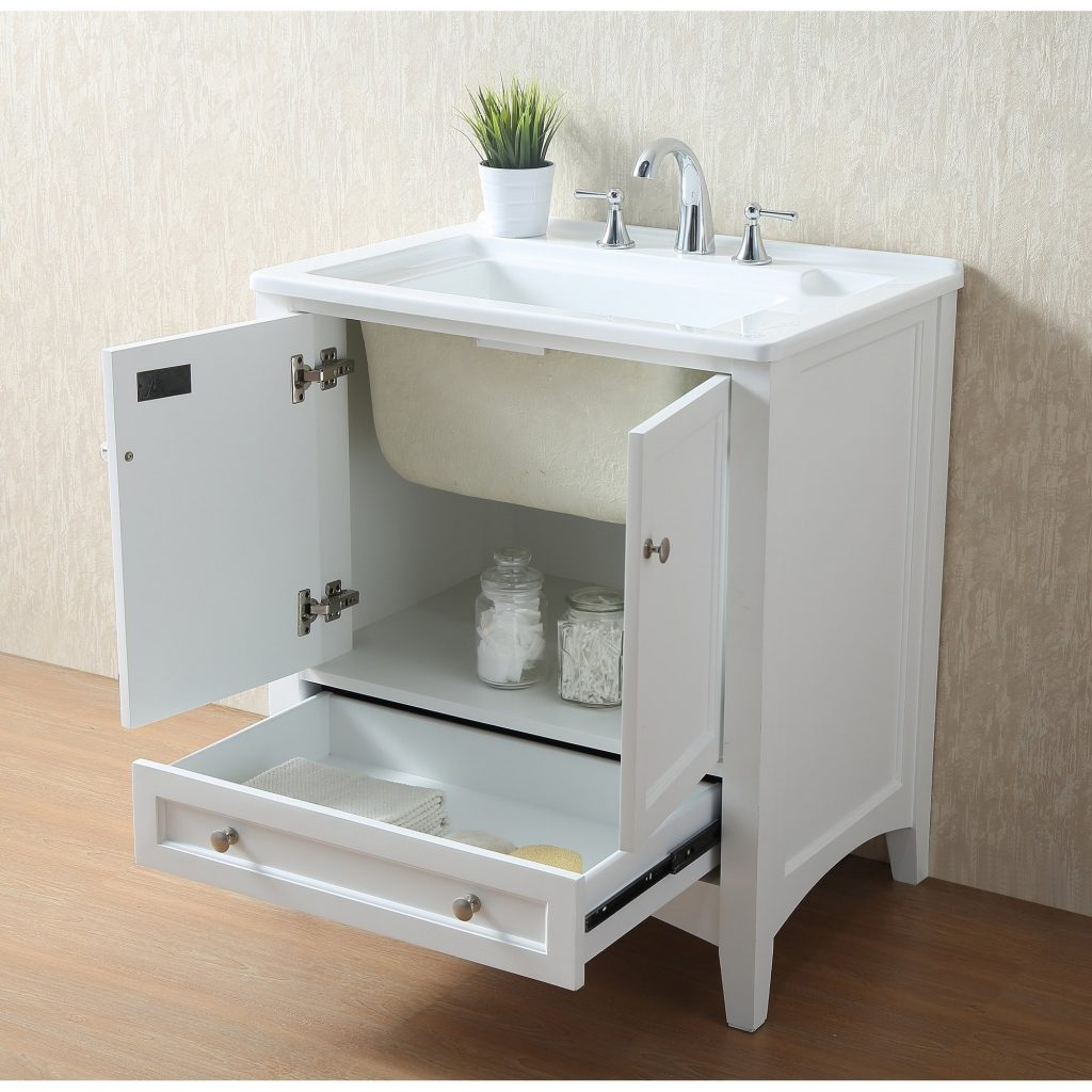 Shop Stufurhome 30 Inch White Laundry Utility Sink Free Shipping