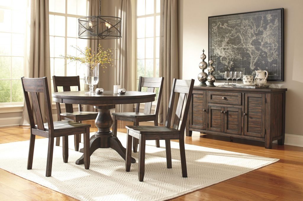 Signature Design Ashley Trudell Round Dining Room Pedestal