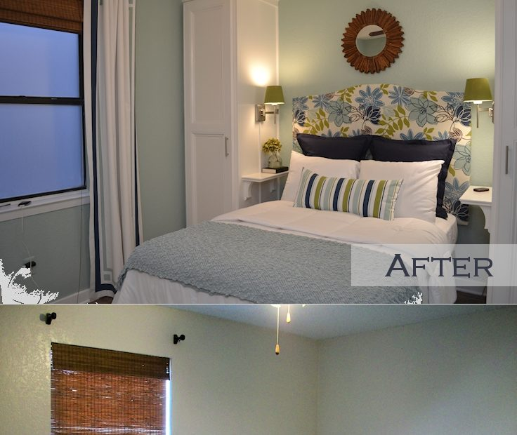 Small Condo Small Budget Bedroom Makeover Before After Top