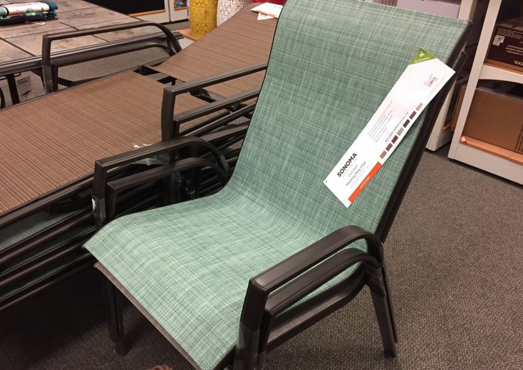 Sonoma 4 Piece Sling Patio Chair Sets 10529 Shipped At Kohls