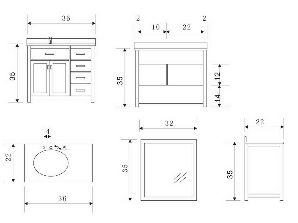Standard Bathroom Vanity Cabinet Dimensions Standard Bathroom Side