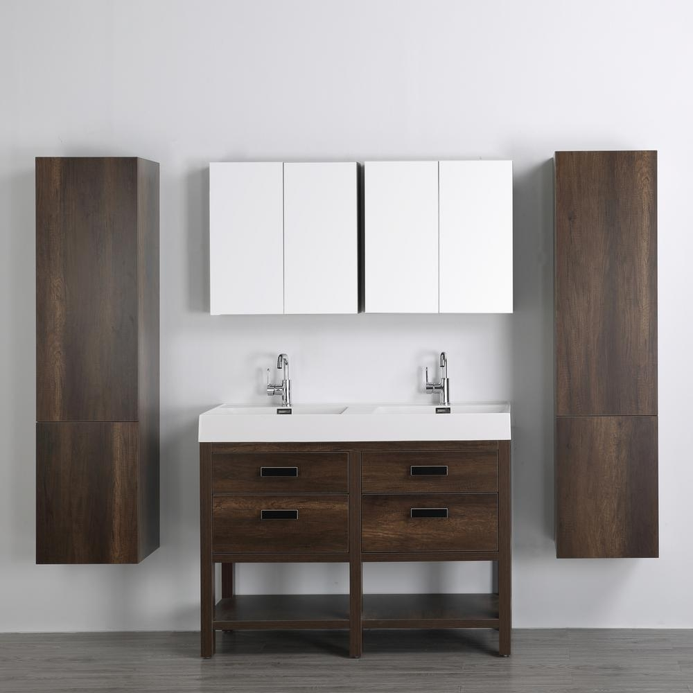 Streamline 472 In W X 323 In H Bath Vanity In Brown With Resin