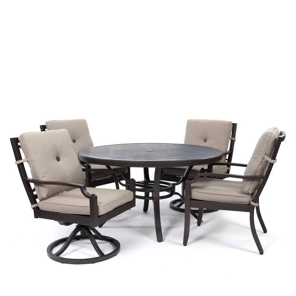 Sunvilla Bellevue 5 Piece Dining Group Sailcloth Shadow
