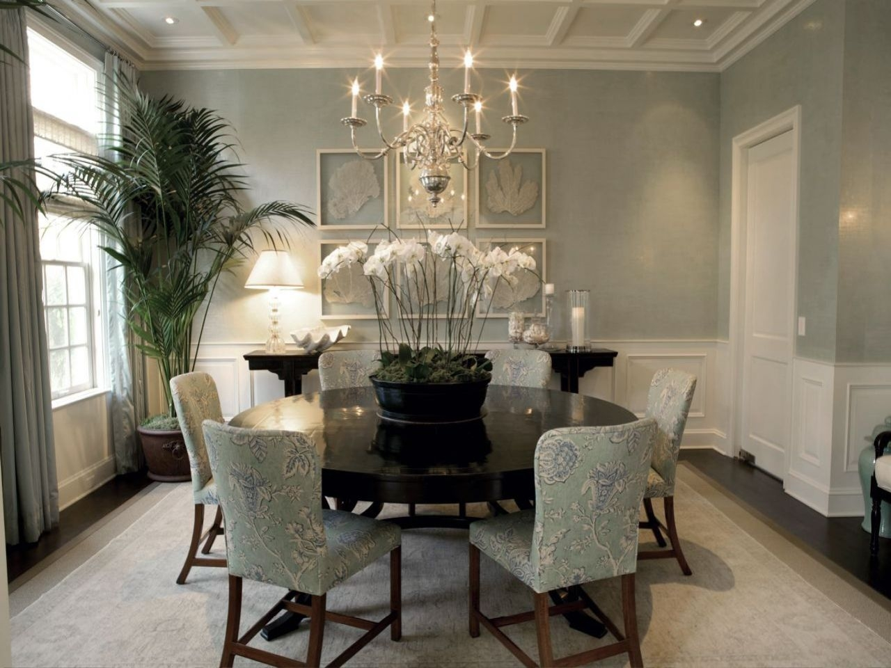 The Color The Elegance The Orchids Dining Room Grey Walls