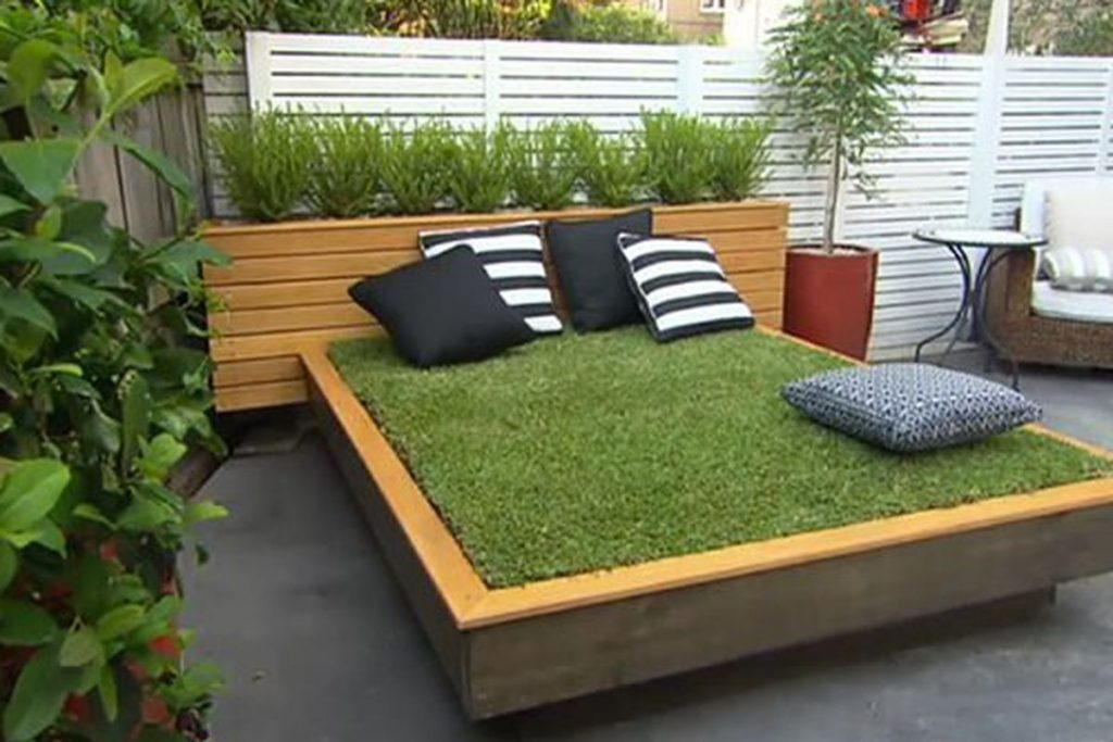 This Outdoor Bed Is Made Out Of Actual Grass Curbed
