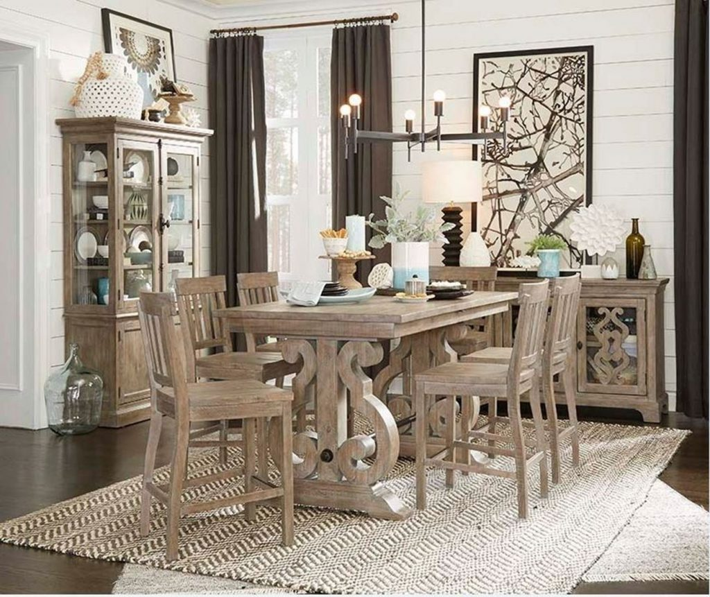 Tinley Park 5 Piece Counter Height Dining Set Woodstock Furniture