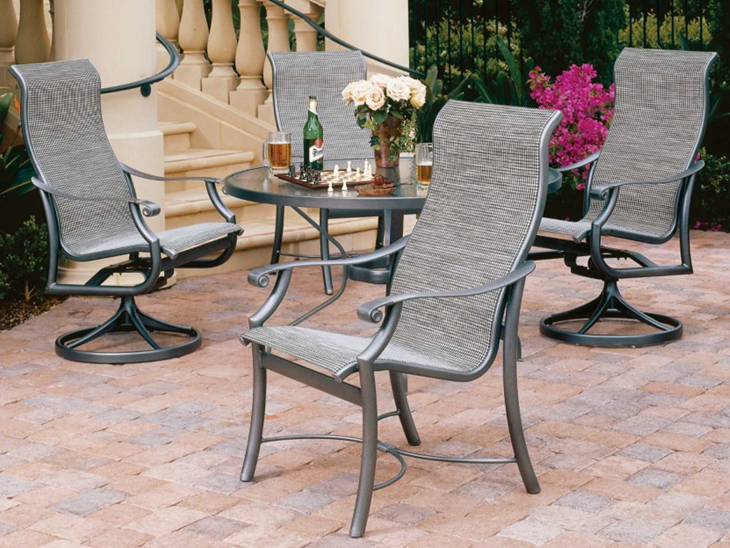 Tropitone Montreux Sling Aluminum High Back Dining Chair 710101