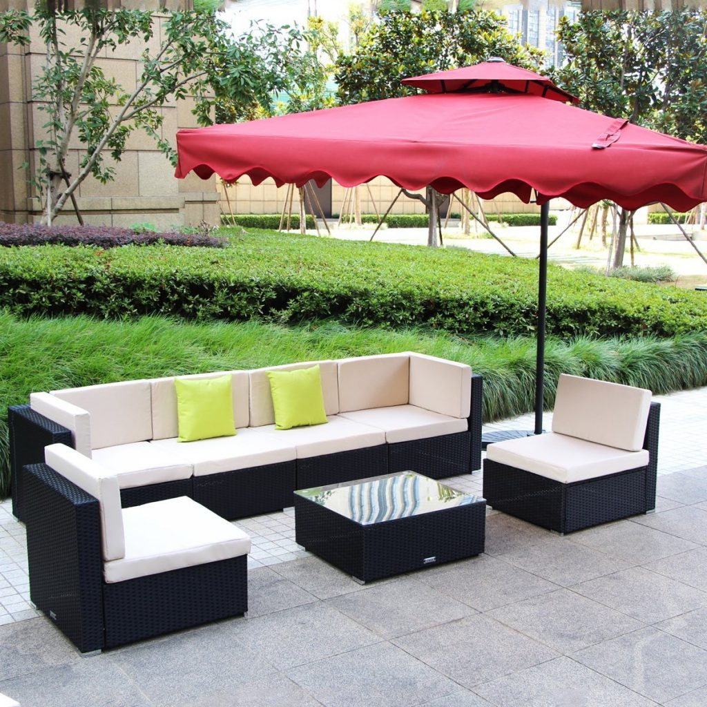Umax 7 12pc Outdoor Rattan Wicker Sofa Set