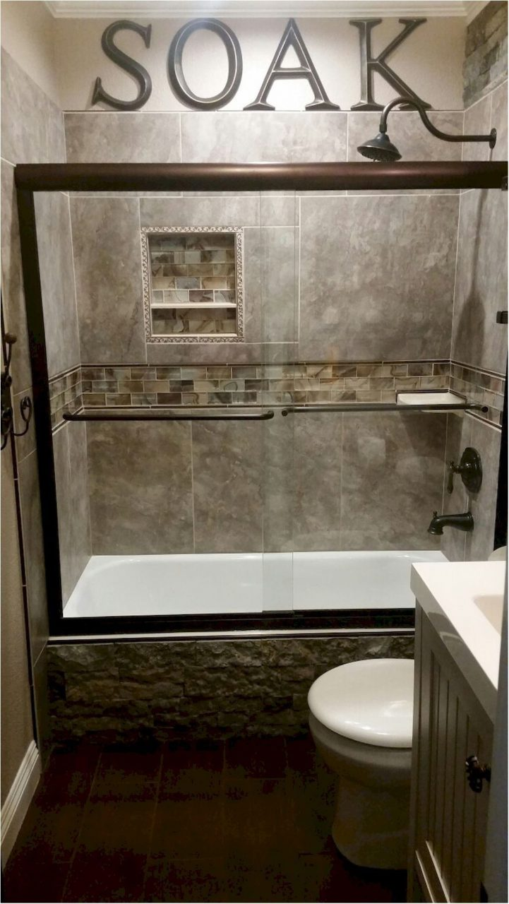 Unbelievable 55 Cool Small Master Bathroom Remodel Ideas Master