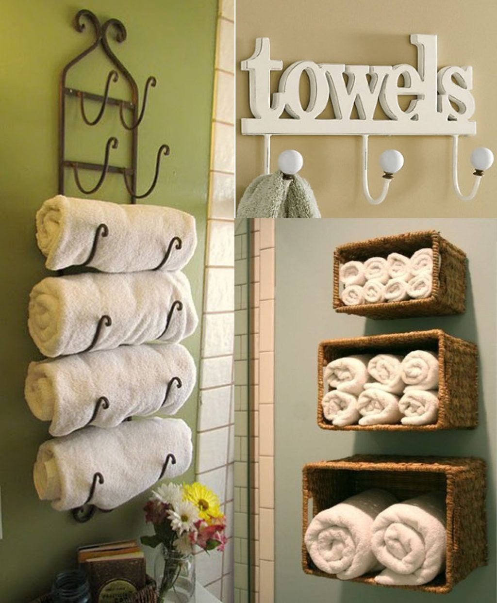 Unique Towel Storage For Your Bathroom Zona Salon Pinterest