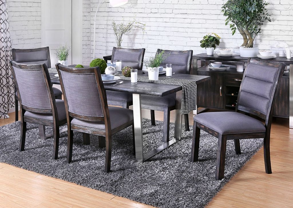 Utah Furniture Direct Mandy Antique Gray Dining Table