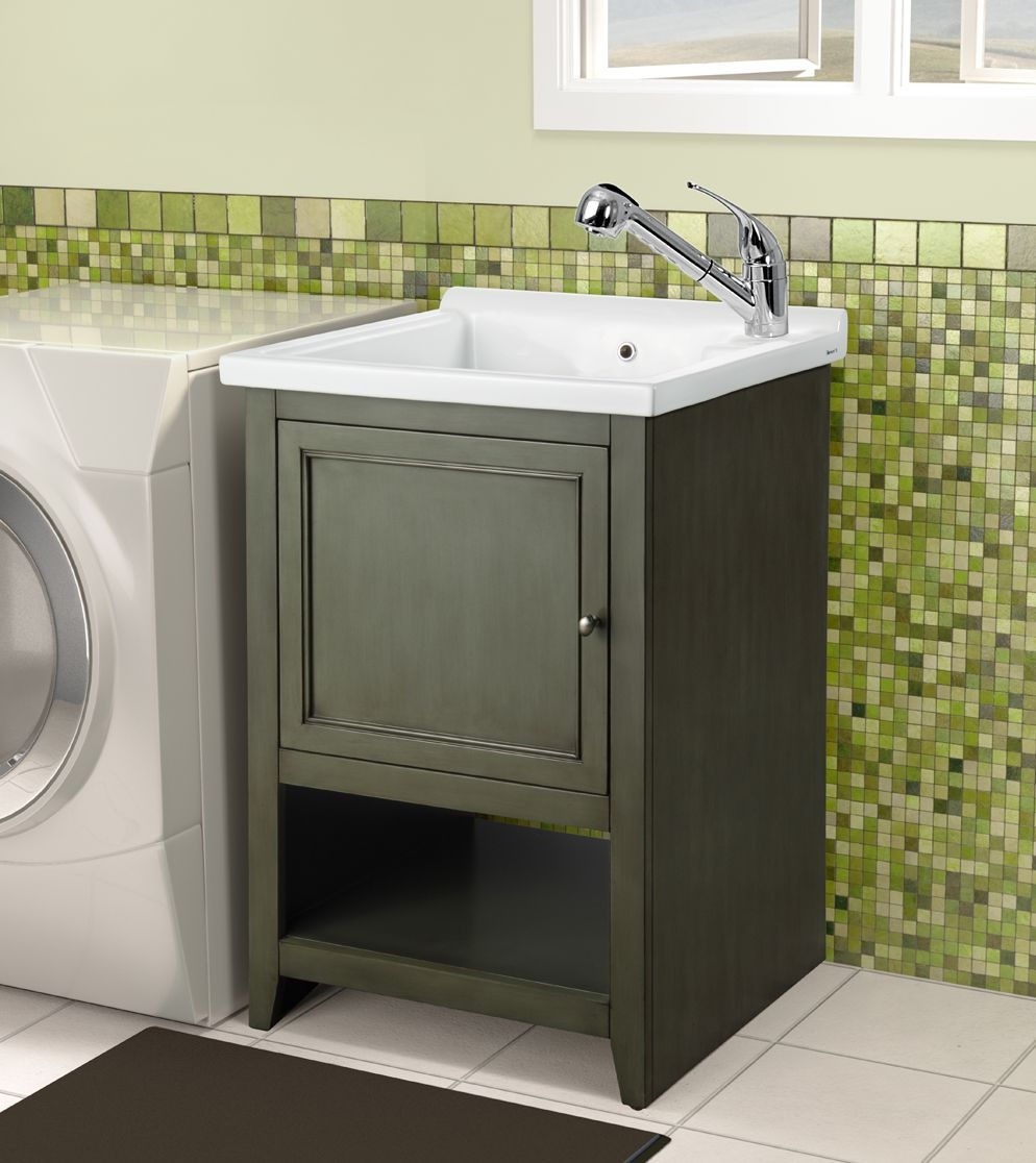 Utility Sink In Cabinet Ceramic Laundry Tub Bathroom Utility Sink