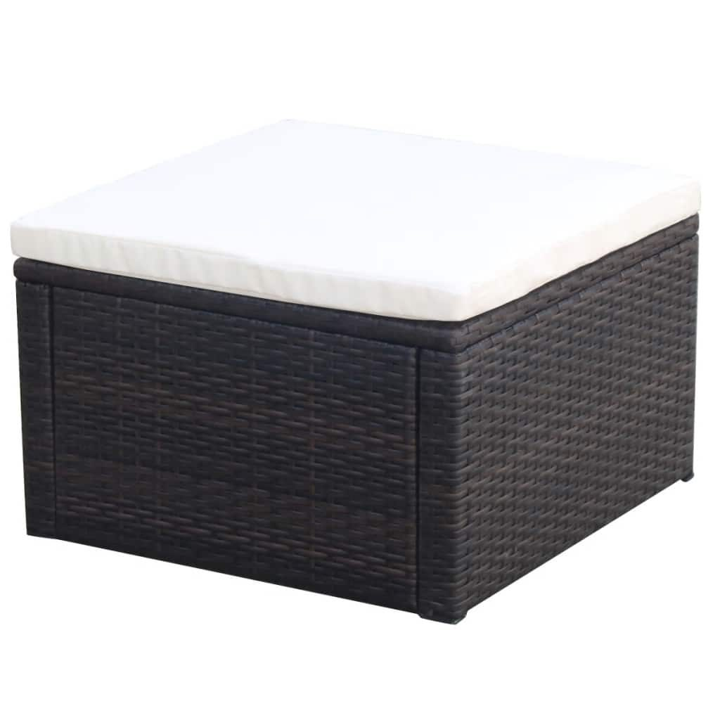 Vidaxl Patio Rattan Wicker Outdoor Garden Foot Stool Rest Ottoman
