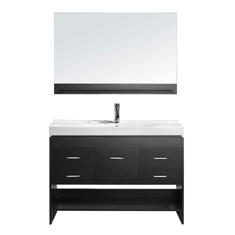 Virtu Usa Gloria 48 In W Bath Vanity In Espresso With Ceramic