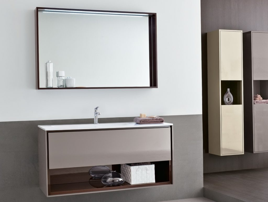 Wall Mounted Mirror Shelf Bathroom Mirrors And Wall Mirrors