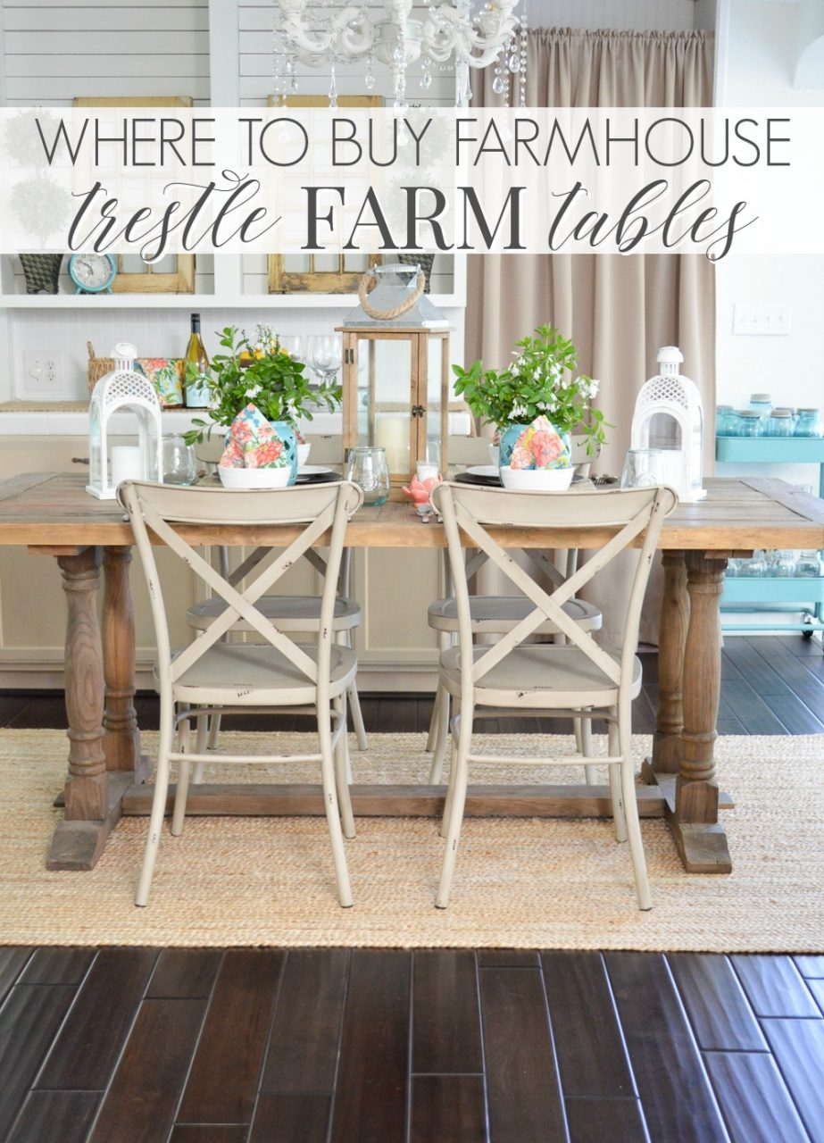 Where To Buy A Farmhouse Trestle Style Farm Table Fox Hollow Cottage