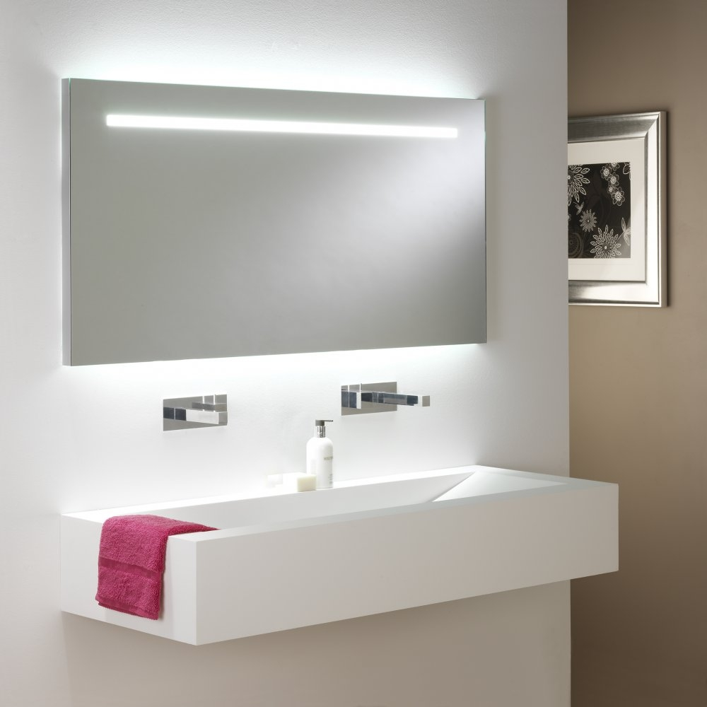 White Sink And Floating Sink At Over There Is White Bathroom Mirror