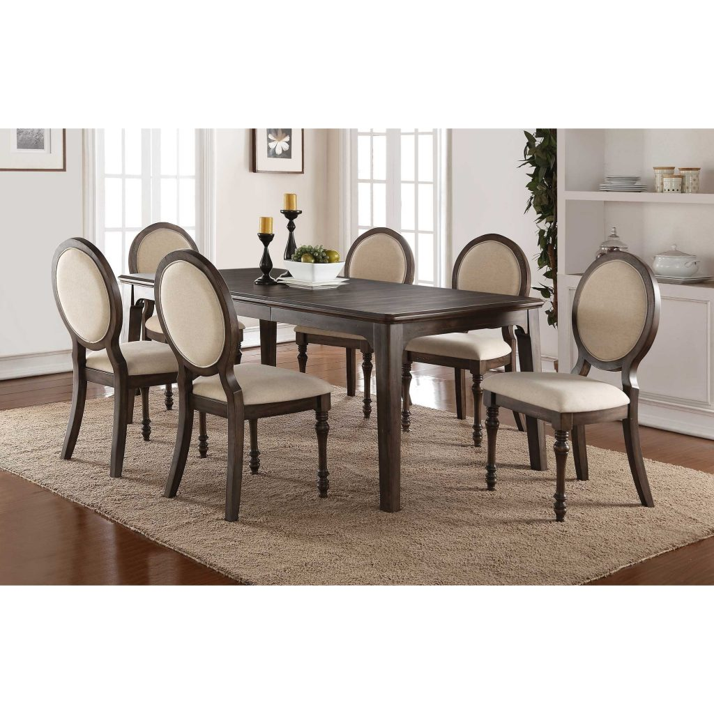 Winners Only Daphne Dining Set With Upholstered Oval Back Chairs And