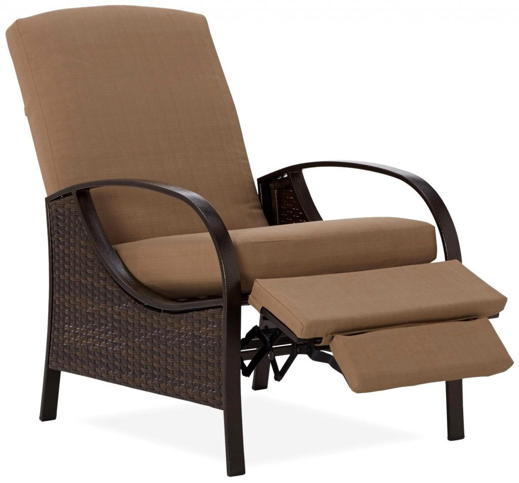 Wonderful Outdoor Patio Recliner Chairs Reclining Wicker Patio