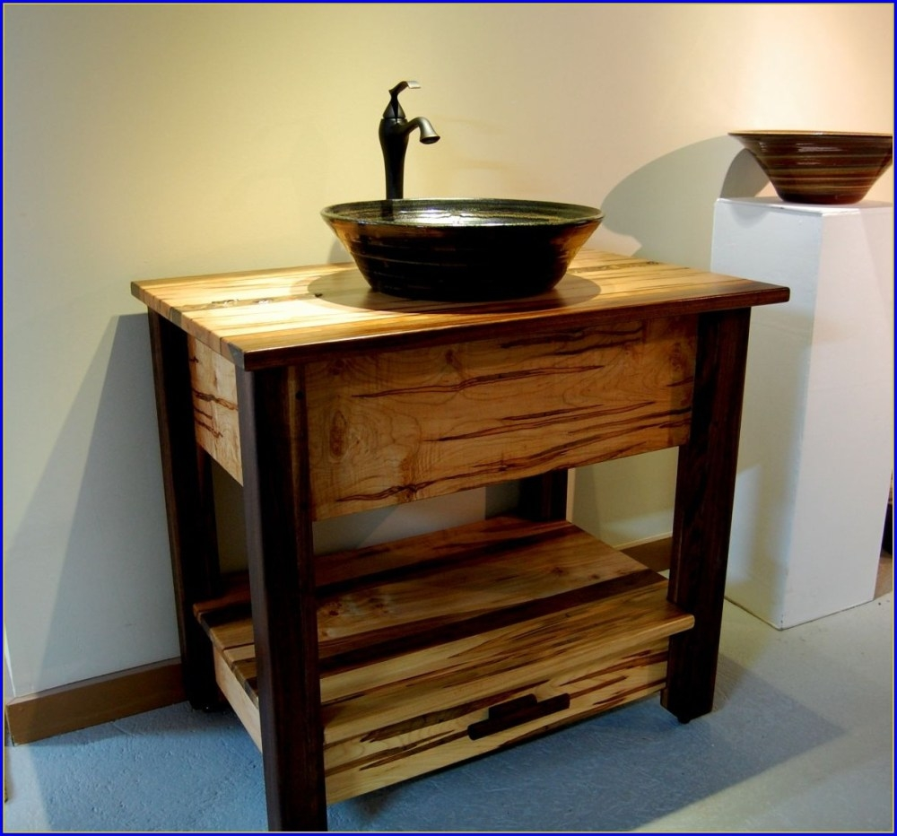 Wood Bathroom Vanities With Vessel Sinks Home Ideas Collection