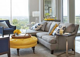 Living Room Yellow And Blue