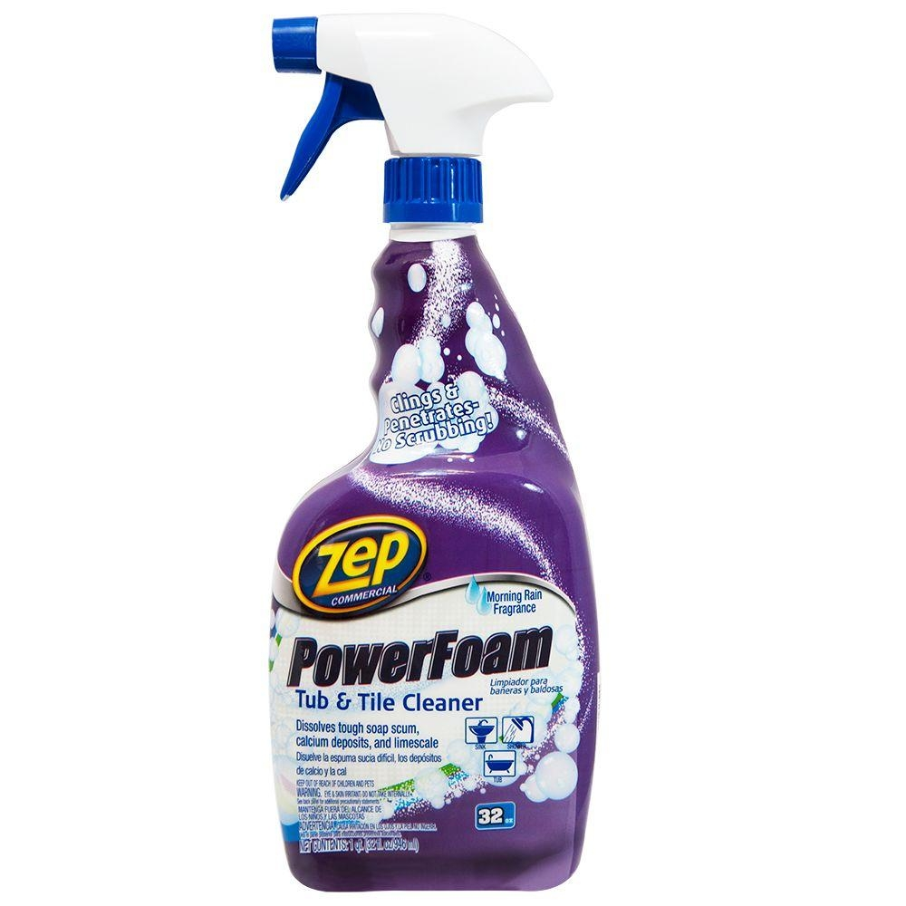 Zep 32 Oz Power Foam Tub And Tile Cleaner Zupftt32 The Home Depot