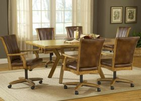 Dining Room Sets With Rolling Chairs