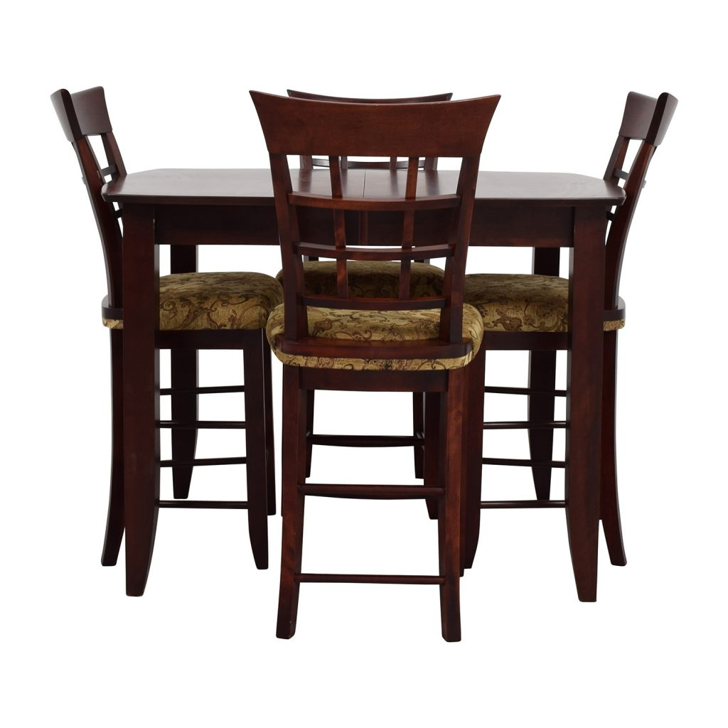 48 Off High Top Dining Table With Four Chairs Tables