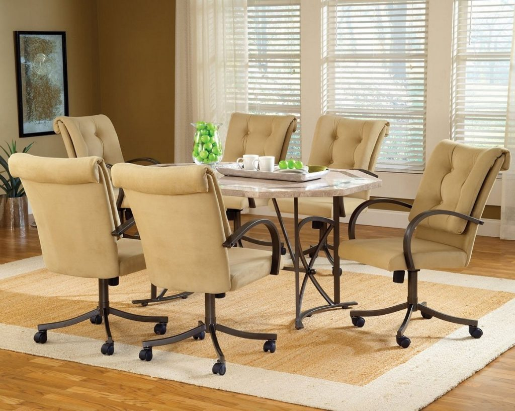 7 Dining Room Sets With Chairs On Casters Dining Room Sets With