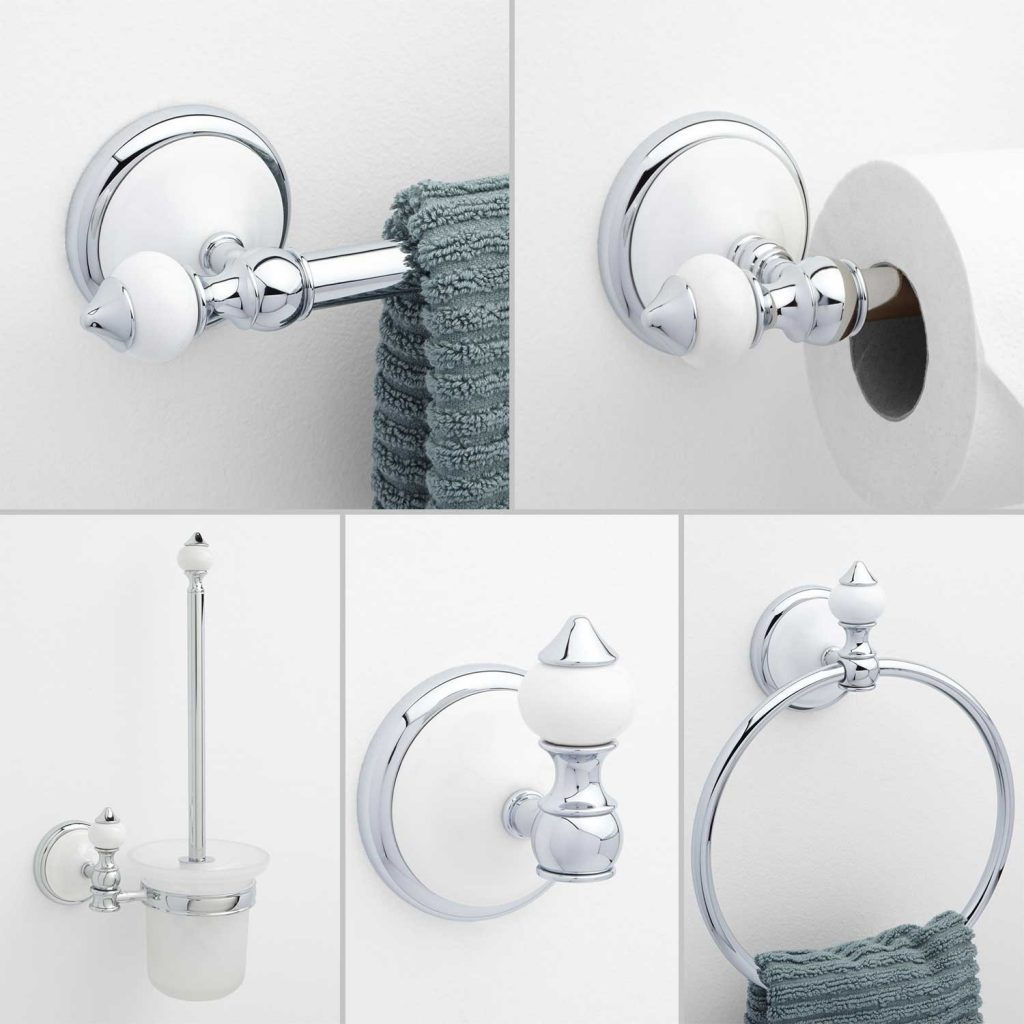 Adelaide 5 Piece Collection Bathroom Accessory Set Bathroom