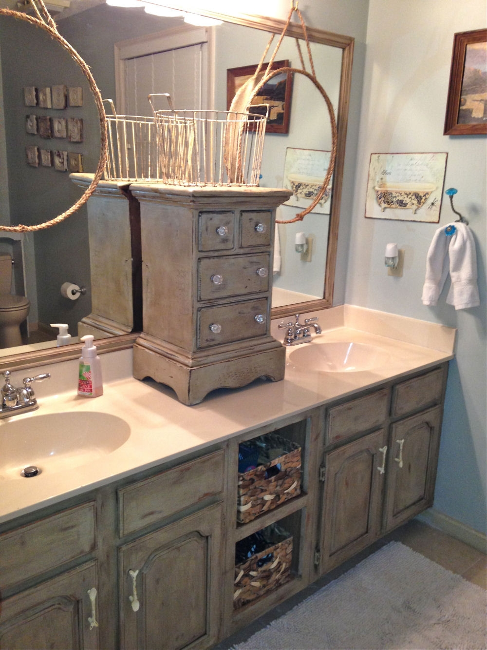 Bathroom Vanity Makeover With Annie Sloan Chalk Paint Layjao