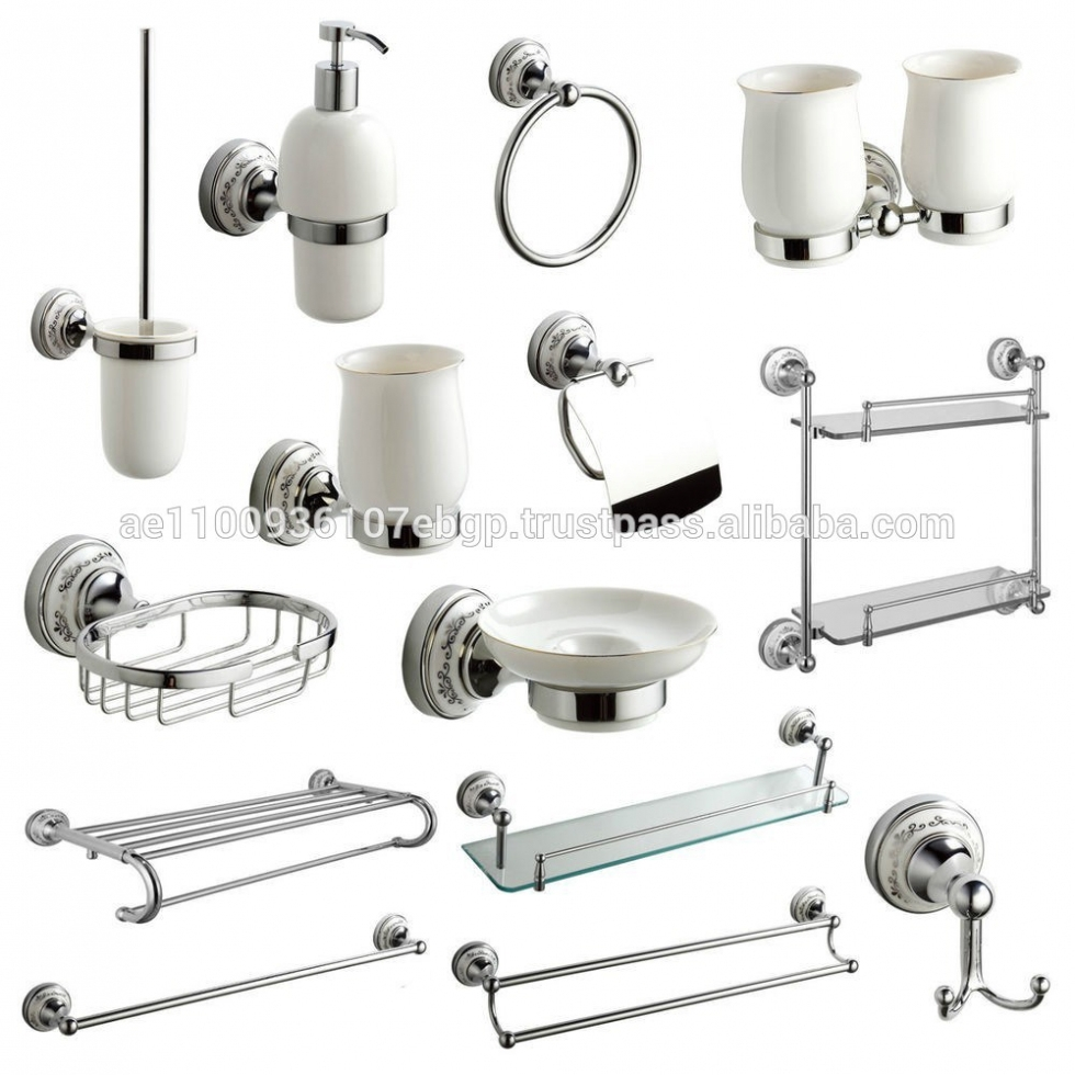Bathroom Voguish Zoom Porcelain Bathroom Accessories Set Set To