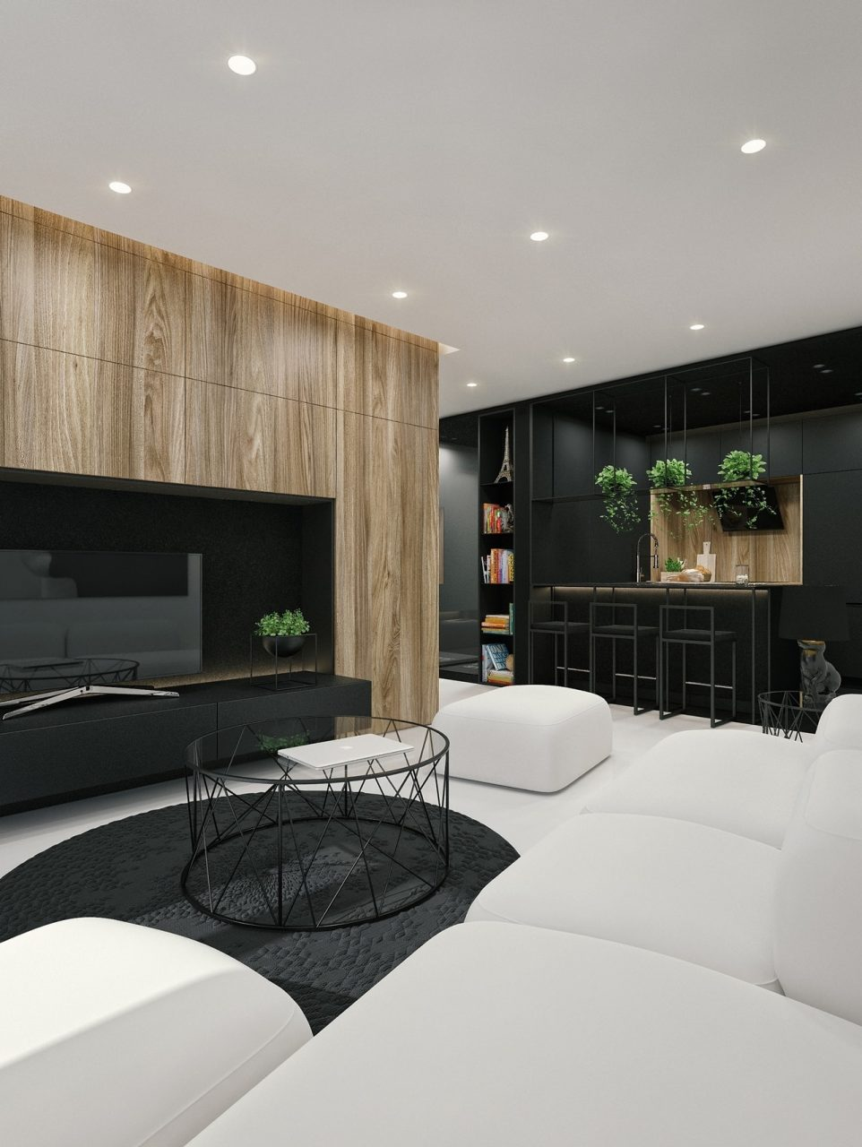 Black And White Interior Design Ideas Modern Apartment Id White