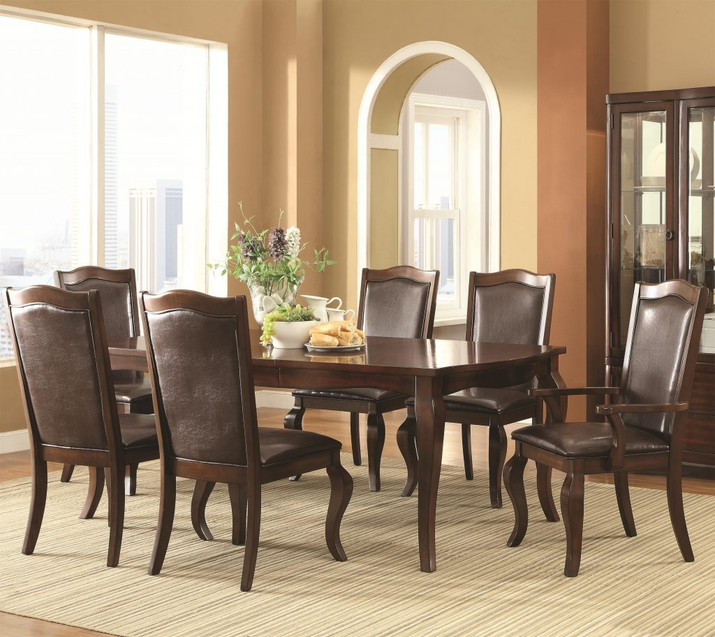 Buy Louanna Transitional 7 Piece Dining Set Coaster From Www