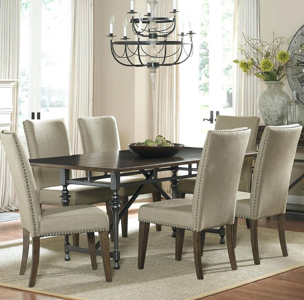 Captivating Dining Room Sets With Upholstered Chairs Or Upholstered