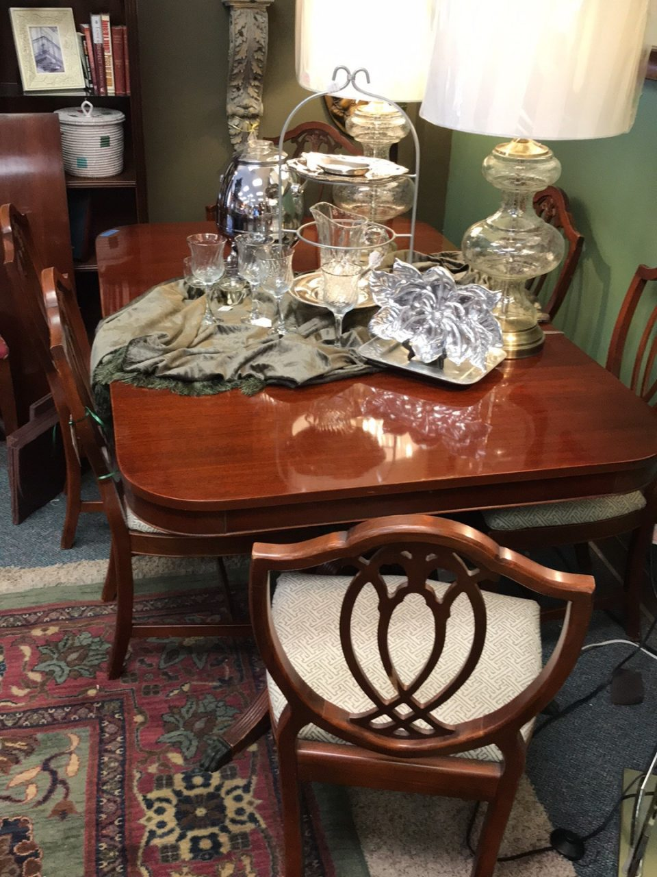 Cherry Dining Table And Chairs Consignment Furnishings In Tulsa Ok
