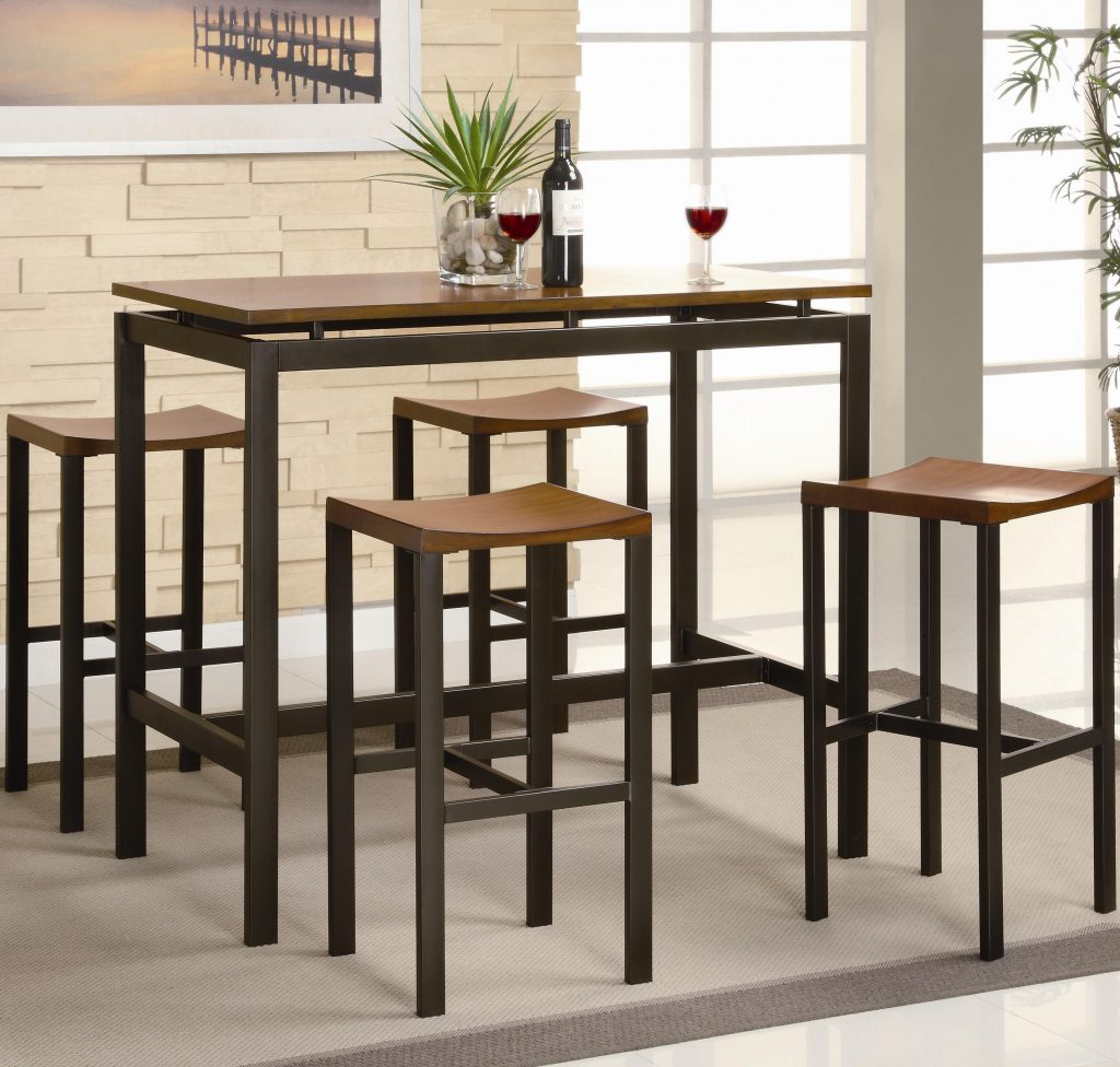 Coaster Atlus Counter Height Contemporary Black Metal Table With