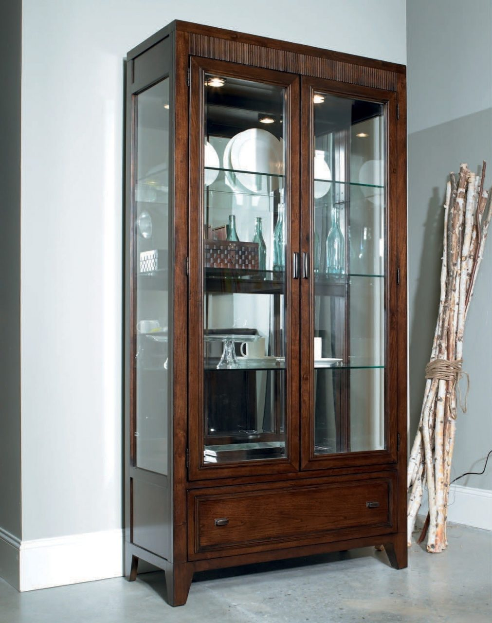 Cool Display Cabinet With Glass Door In Various Style And Design