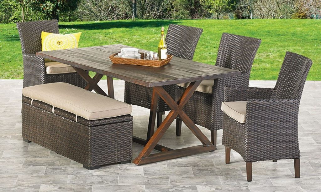 Copperhead 6 Piece Outdoor Dining Set The Dump Luxe Furniture Outlet