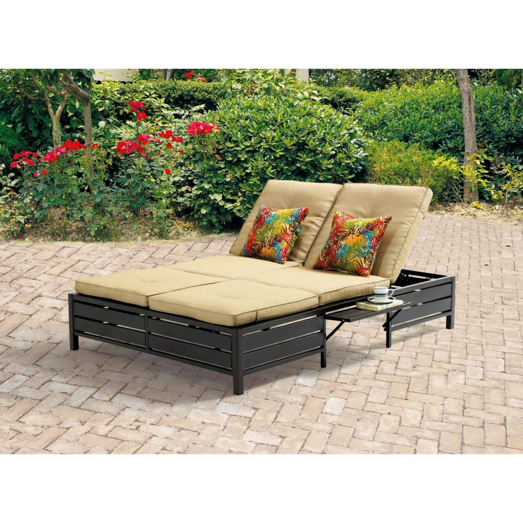 Cosco Outdoor Adjustable Aluminum Chaise Lounge Chair Serene Ridge