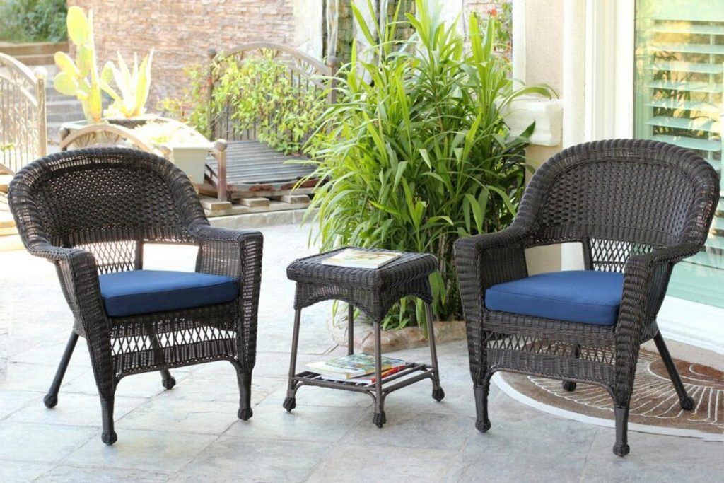 Costway 11 Pcs Outdoor Patio Dining Set Metal Rattan Wicker
