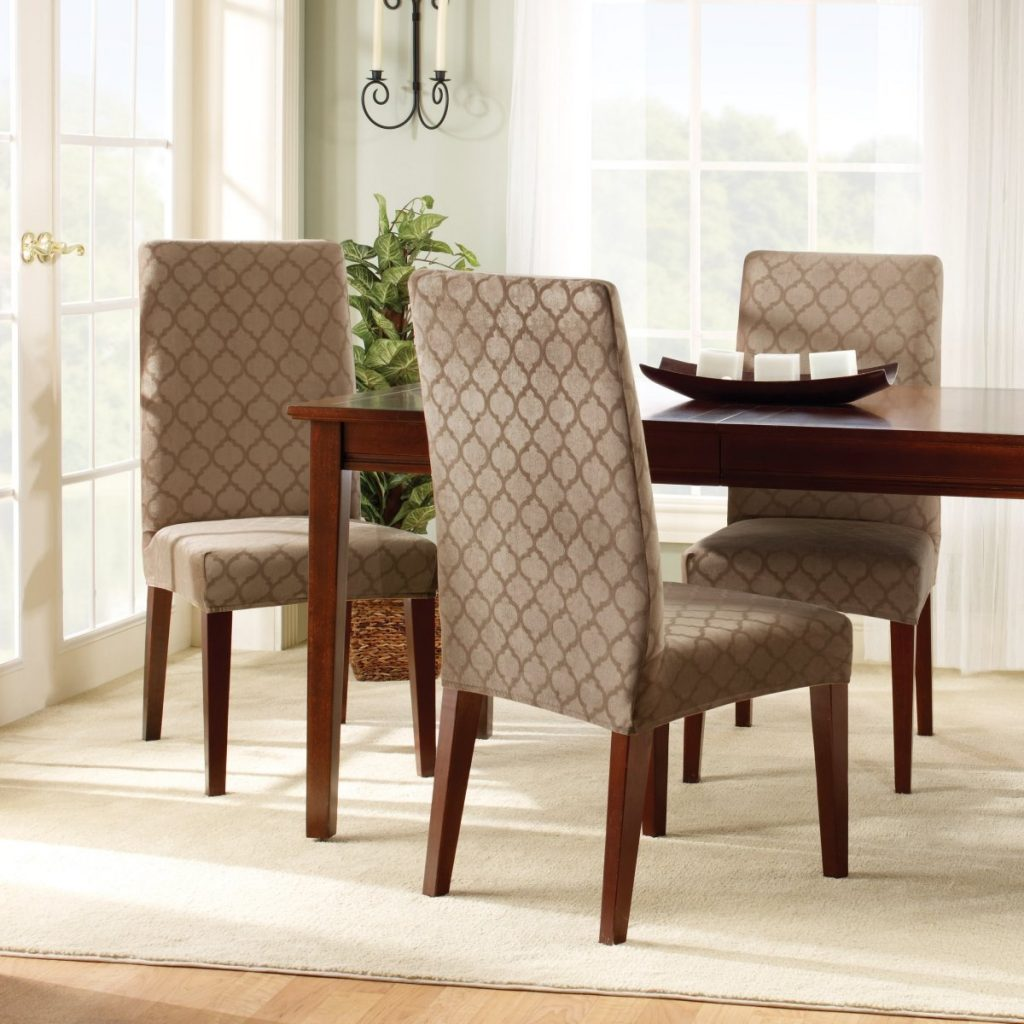 Dining Table Chair Covers Throughout Suede Dining Chair Covers