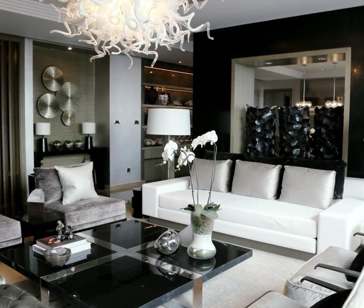Elegance In Black White Silver Kelly Hoppen Interiors Color