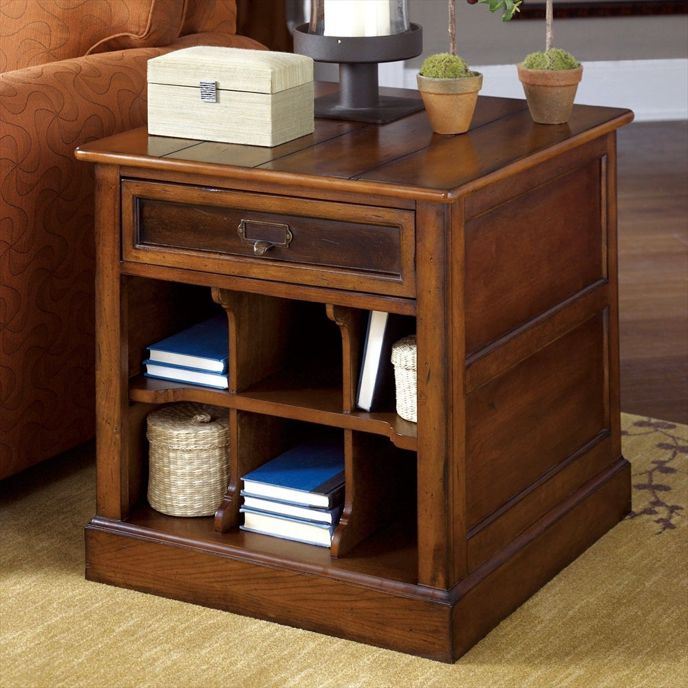 End Tables Decorating Inspiration Comes With Teak Wood Frames And