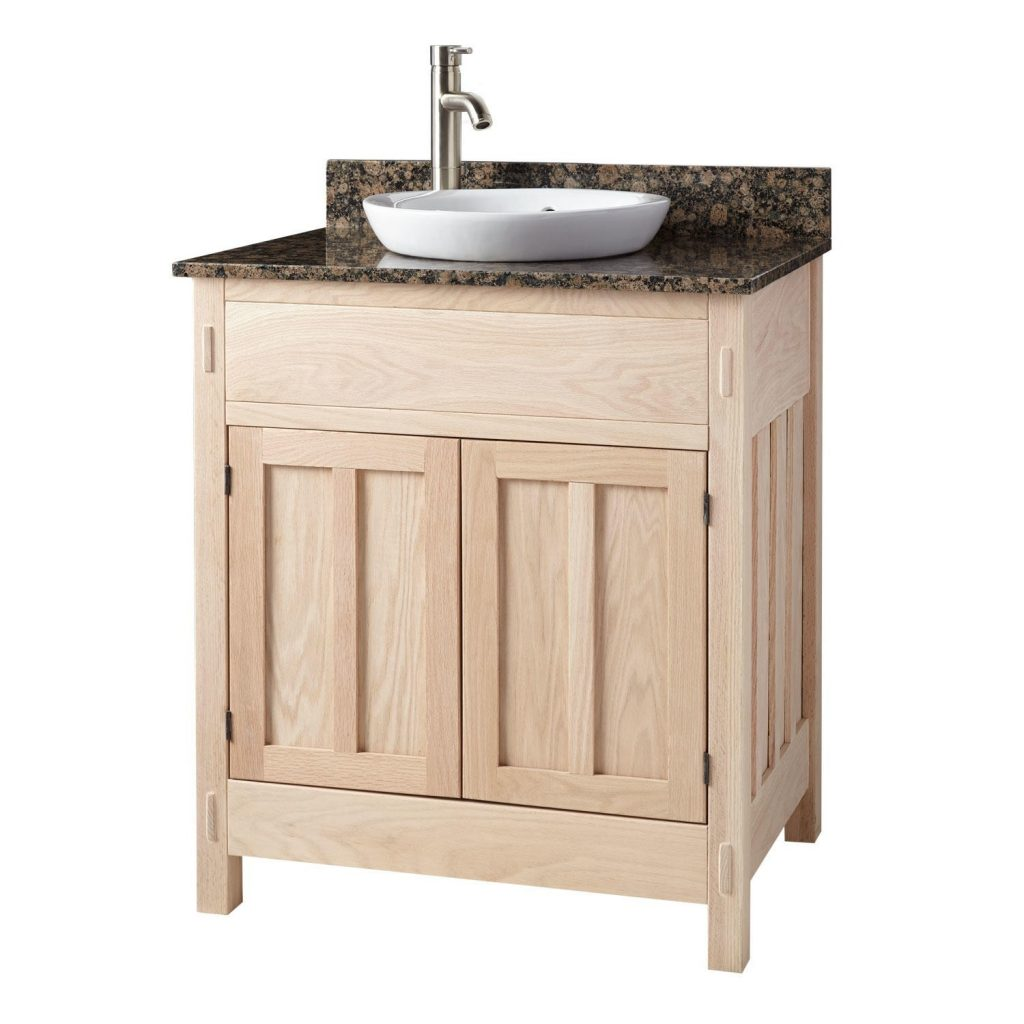 Eye Catching Look Of Unfinished Bathroom Vanity Completing Our
