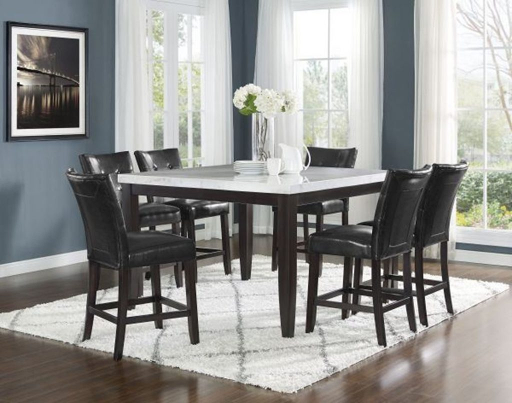 Francis Seven Piece Counter Height Dining Set Walker Furniture Las